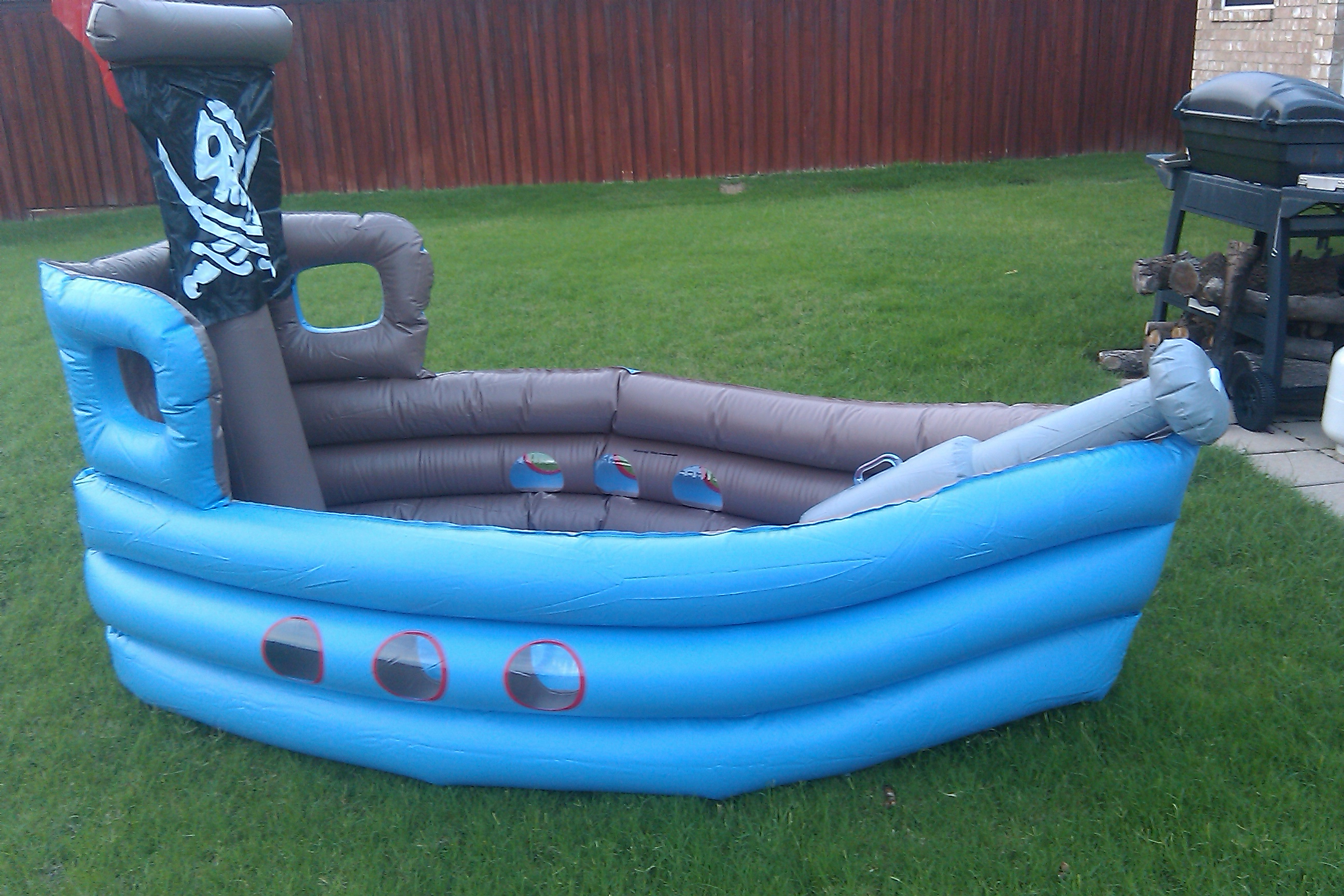 Shiver Me Timbers Our First Inflatable Pool Crash And Burn Karlovetz